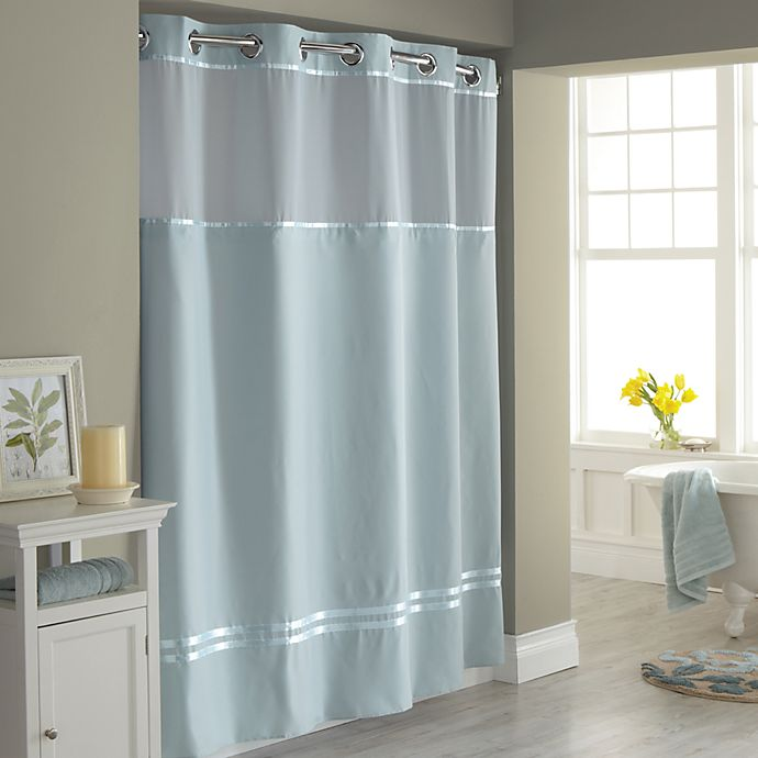 Hookless Escape Fabric Shower Curtain And Liner Set