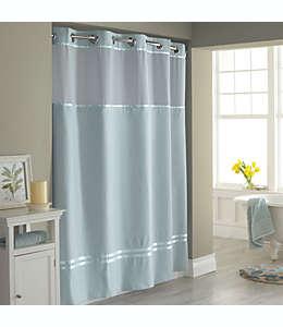 Set de cortina de baño y forro de poliéster Hookless® Escape™, 1.8 x 1.87 m color azul pizarra