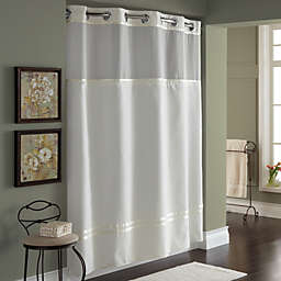 Hookless® Escape Fabric Shower Curtain and Shower Curtain Liner Set