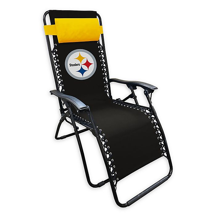 Alternate image 1 for NFL Pittsburgh Steelers Zero Gravity Lounger