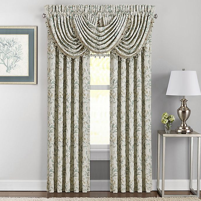 Alternate image 1 for J. Queen New York™ Donatella 84-Inch Rod Pocket Window Curtain Panel Pair in Spa