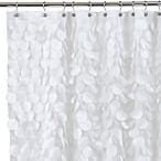 Gigi 72-Inch x 72-Inch Fabric Shower Curtain in White