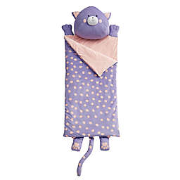 Dream Factory Cat Youth Sleeping Bag in Purple