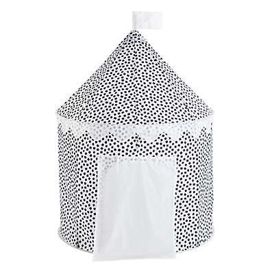 Confetti Circular Kids Play Tent in Black/White