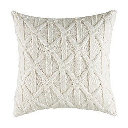 Nautica® Clearview Lattice Knit Square Throw Pillow in Ivory