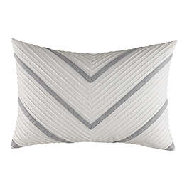 Nautica® Clearview Chevron Oblong Throw Pillow in Grey/Ivory