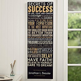 Secrets of Success Personalized Canvas Print