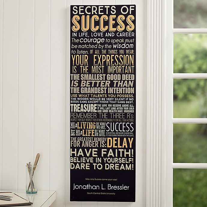 Success Personalized Canvas Print