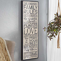 Family Rules Personalized Canvas Print