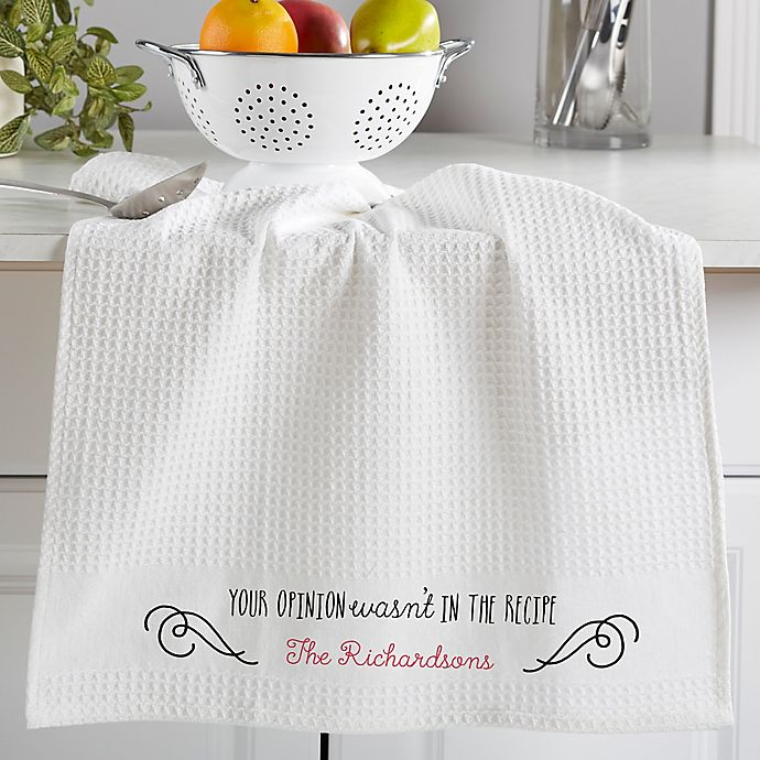 Sassy Cook Personalized Waffle Weave Kitchen Towel- Set Of