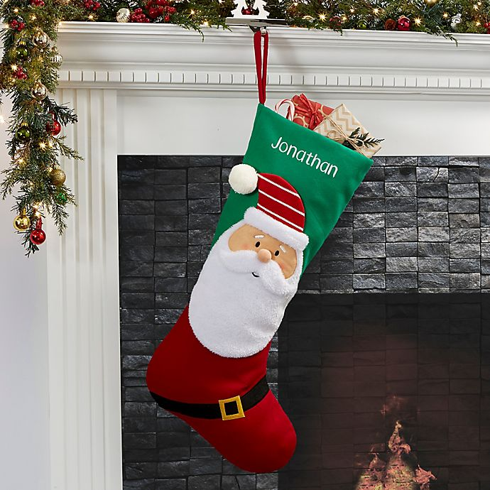 Christmas Stocking Personalized.North Pole Santa Personalized Jumbo Christmas Stocking
