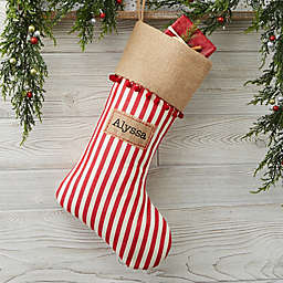3f6af3fb27a Stripe Cottage Christmas Personalized Christmas Stocking
