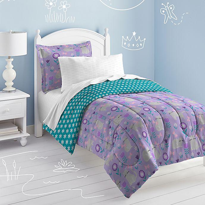 Alternate image 1 for Dream Factory Cat Garden Reversible Comforter Set