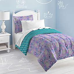 Dream Factory Cat Garden Reversible Comforter Set
