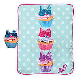 JoJo Siwa™ 2-Piece Cupcake Pillow and Blanket Set