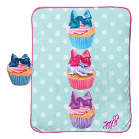 Jojo Siwa 2 Piece Cupcake Pillow And Blanket Set Bed