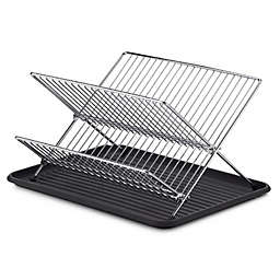 SALT™ Folding Dish Rack and Drain Board Set