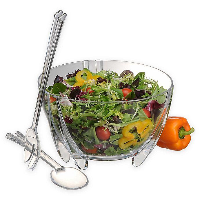 Alternate image 1 for Prodyne 3-Piece Salad Bowl and Server Set