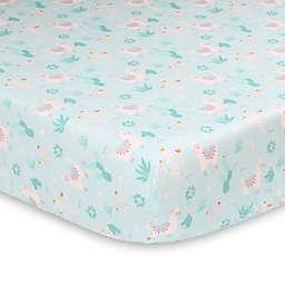 The Peanutshell™ Little Llama Crib Sheet in Soft Mint