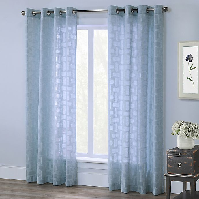 Alternate image 1 for Voltaire 63-Inch Grommet Window Curtain Panel in Mist