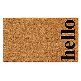 """Vertical Hello 24"""" x 36"""" Coir Door Mat"""