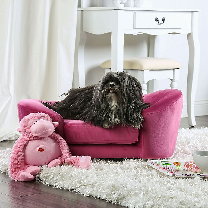 Alternate image 1 for Henry Sofa Pet Bed in Pink