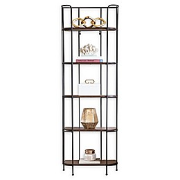 Abbyson Living® Brooklyn 5-Tier Shelving Unit in Oak