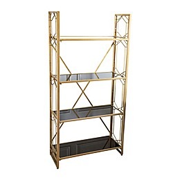 Abbyson Living® Jackson 4-Tier Shelving Unit in Gold