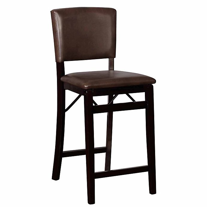 Incredible Linon Home Millbrook Folding Counter Stool In Brown Bed Machost Co Dining Chair Design Ideas Machostcouk