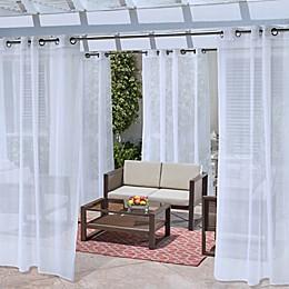 No Se'em Grommet Indoor/Outdoor Window Curtain Panel
