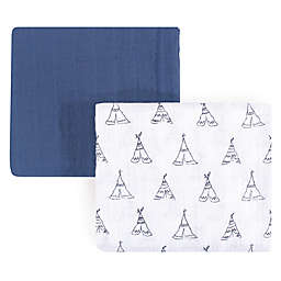 Yoga Sprout Teepee 2-Pack Muslin Swaddle Blanket Set in White