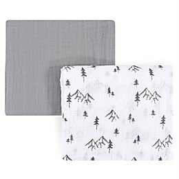 Yoga Sprout Mountain 2-Pack Muslin Swaddle Blanket Set in Grey