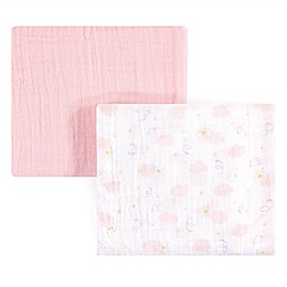 Yoga Sprout Sky 2-Pack Muslin Swaddle Blanket Set in Pink