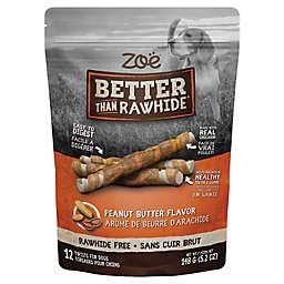 Zoë Better Than Rawhide Twists 12-Pack Peanut Butter Flavor Dog Treats