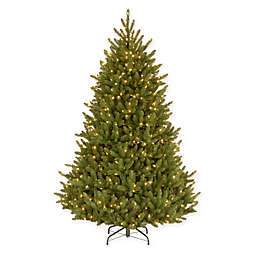 National Tree Company 7-Foot 5-Inch Natural Fraser Fir Pre-Lit Christmas Tree with Clear Lights
