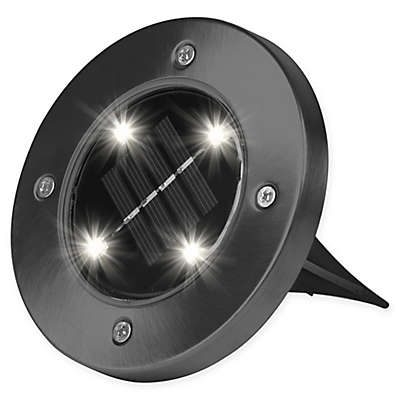 Bell + Howell Solar-Powered LED Disk Lights (Set of 4)