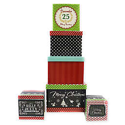 6-Piece Traditional Designs Square Gift Box Set