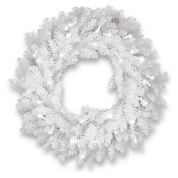 National Tree Company® 30-Inch Pre-Lit Dunhill White Fir Artificial Christmas Wreath