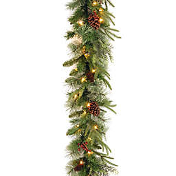 National Tree Company® 9-Foot Colonial Pre-Lit Garland with Clear Lights