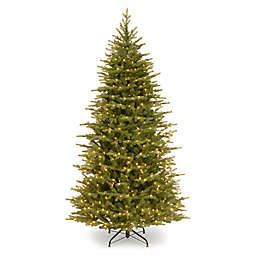 National Tree Company 6.5-Foot Pre-Lit Slim Nordic Spruce Christmas Tree