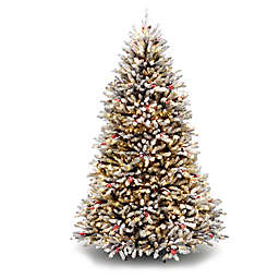 National Tree Company 7-Foot Pre-Lit Dunhill Fir Christmas Tree