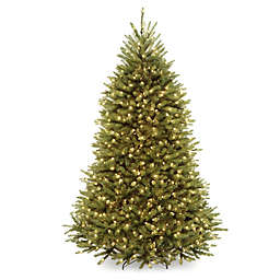 National Tree Company 7.5-Foot Pre-Lit Dunhill Fir Artificial Christmas Tree with 1000 Clear Lights