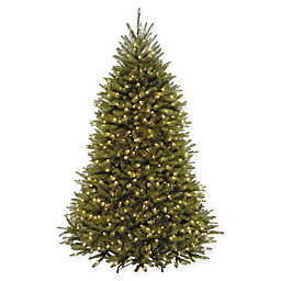 National Tree Company 7.5-Foot Pre-Lit Dunhill Fir Artificial Christmas Tree with 600 Clear Lights
