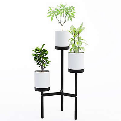 Jamesdar Trio Plant Stand in Black/White