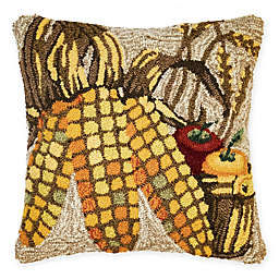Liora Manne Corn Square Throw Pillow in Natural