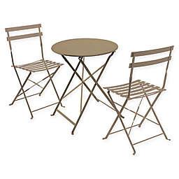 Cafe 3-Piece Folding Indoor/Outdoor Bistro Set