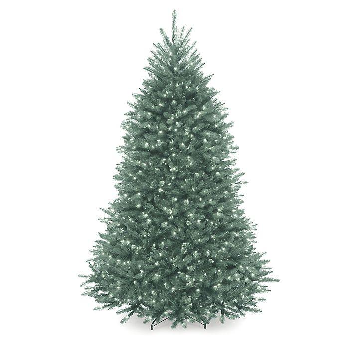 National Tree Company Pre-Lit Dunhill Blue Fir Christmas ...