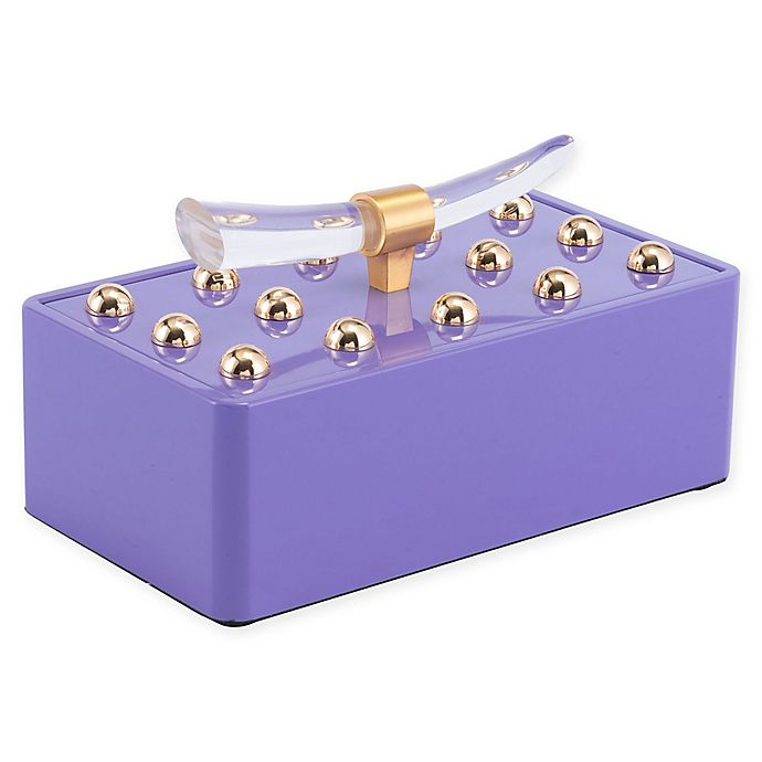 Alternate image 1 for Zuo® Modern Mora Small Decorative Box in Violet