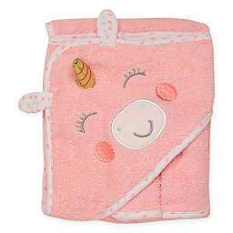Baby Starters® 3-Piece Unicorn Hooded Towel and Washcloth Set in Pink