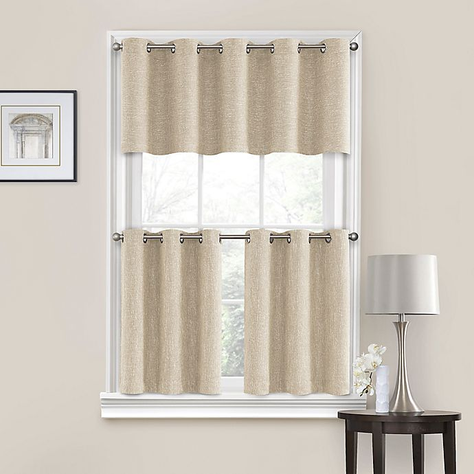 Quinn Grommet Kitchen Window Curtain Tiers and Valance